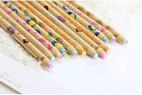 Wholesale Christmas Creative Pencil Type Eraser Stationery ONE Wooden Pencil Eraser Kids Party Favours