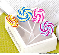 Wholesale Christmas Day Creative Lollipop Type Eraser Stationery ONE Wooden Cute Eraser Kids Party Favours