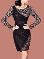 Fashion Dresss Plus size D95 Elegant Full Lace Mosaic Slim W...
