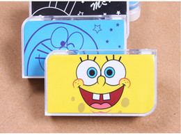 Wholesale Fashion Ladies Women Cute cartoon square Travel Portable Contact Len Lenses Container Case Set