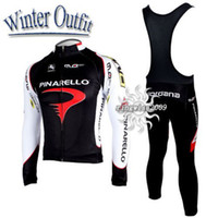 Wholesale WINTER FLEECE THERMAL CYCLING LONG JERSEY BIB PANTS PINARELLO BLACK PICK SIZE XS XL