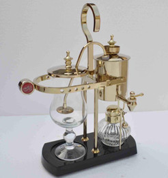 Wholesale Royal Belgium coffee maker balancing coffee machine expresso coffee maker gold solid wood base