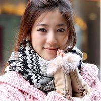 Wholesale Fashion Fingerless Cony Hair Gloves Cute mittens WRIST WARMER winter hand keep warm winter gloves