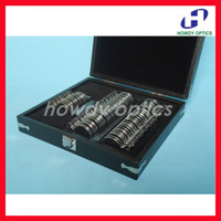 Wholesale HTS trial lens set with of shiny metal rim and quality leather case