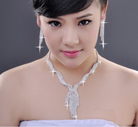 Wholesale 6 off new drop shippingSoft waterlines necklace Bridal necklace Bridal earrings necklace chain Wedding necklace