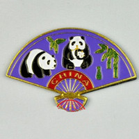 Wholesale Cloisonne Magnetic Refrigerator Sticker Icebox Magnet Chinese Fridge Magnet Stickers mix style Free