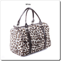 Wholesale Hot Sale Women Leopard Print Handbag Faux Fur Stud Bags Winter Bucket Barrel Bag Designer Bag