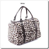 Wholesale Hot Sale Women Leopard Print Handbag Faux Fur Stud Bags Winter Bucket Barrel Bag Designer Bag