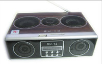 Wholesale hot Mini Sound box MP3 player Mobile Speaker boombox FM Radio SD Card reader USB SU12 Sample