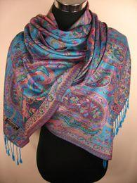 Pashmina de cachemira bufandas del mantón del abrigo del mantón de la bufanda de ponchos envuelven 20pcs LOTES DE COLORES