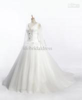 Cheap Ball Gown bridal dress Best Real Photos V-Neck wedding dress