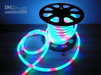 Wholesale 50 meter LED Neon light flex rope PVC LED rope lights for Night bar Disco AC220V V