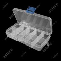 Wholesale 10 New Storage Case Box Compartment for Nail Art Tips