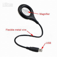 Wholesale 18 LED optional USB LED Light lamp With Magnifier Flexible Portable for Laptop and Desktop