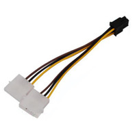 Wholesale 4 Pin to Pin PCI E Y Power Converter Adapter Cable