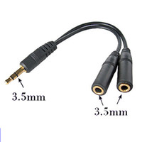Wholesale 3 mm Stereo Headphone Y Splitter Cable for Mp3 MP4