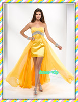 Wholesale China Cheap Clothing Beaded Chiffon Sweetheart Cocktail Prom Dresses PF Custom Made
