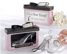 Wholesale wedding gift of Shoe bottle opener set and retail