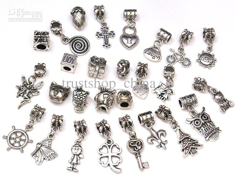 Spacer dangle bead charms pendants for diy bracelet online with 24 05