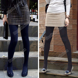 Wholesale Winter Fashion Slim Fleece Tights Pantyhose Warmers Women Stockings Five Colors For Slection