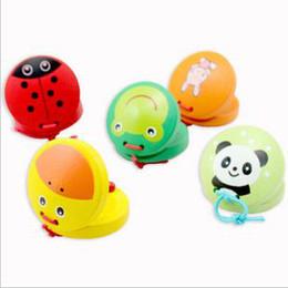 Children's wooden toys mixed animal castanet castanets instrument musical instruments musical Toy brain game