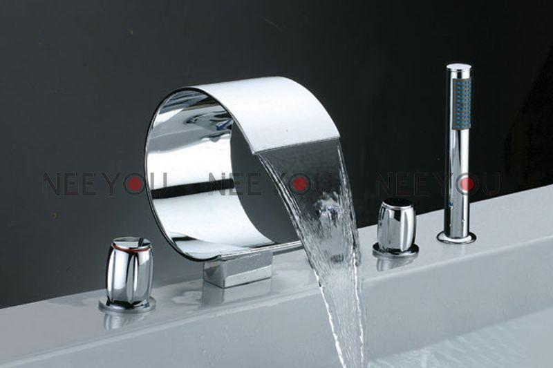 Bathroom Waterfall Sink Faucet Luxury Bathtub And Shower