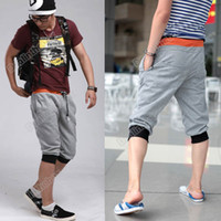 Wholesale Men s Fashion Casual Sport Rope Short Pants Jogging Trousers Cotton Polyester Sport Colors