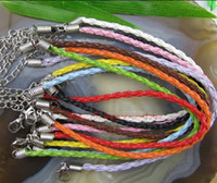 Chirstmas beaded braided necklace - fashion handmade mix color braided leather necklace cord Cm