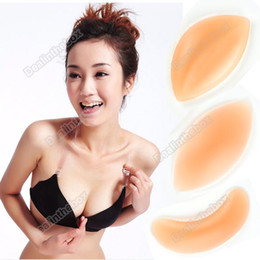 Wholesale 1 pair Silicone Bra Push Up Inserts Pad Breast Enhancer Invisible Larger Push Up Inwards