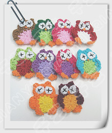 Wholesale Hand crochet cotton owl a shipping free