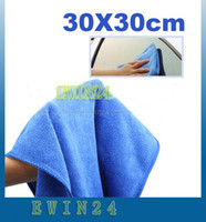 Wholesale Soft Fabric Cleaning Dish Washing Towel Microfiber Cloth For Car Home Blue New Good Quality
