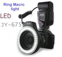 Wholesale 30PCS JY LED Video Lights Macro Led Ring Flash Cool Light unit for Canon XTi XT Nikon Pentax