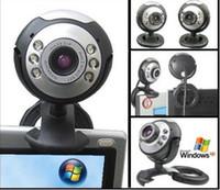 Wholesale free dhl Mega USB LED Webcam Web Cam Camera PC Laptop Mic