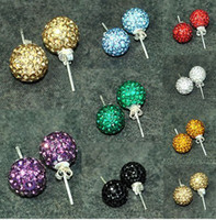 Wholesale 10mm Sterling Silver Crystal Earring pairs