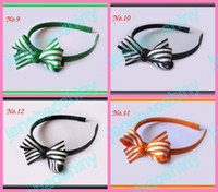 Wholesale Boutique Girls Headbands quot Hair Bow Clips mix color girl clips l11
