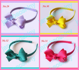 "free shipping 140pcs Boutique Girls Headbands 2.75"" Hair Bow Clips mix color girl clips h11"