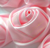 Wholesale 100pcs cm Diameter Pink Silk Satins Artificial Flower Rose Camellia Peony Diy Jewelry Brooch Headware