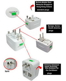 Wholesale Multi Travel Adaptor Adapter plug in Universal Worldwide use Plugs amp Sockets US EU UK AU