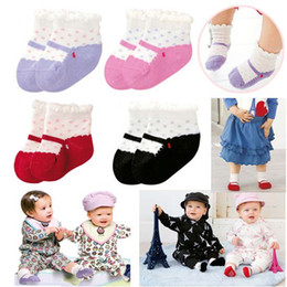 Wholesale 8Pairs packs COMBI Baby Anti skid Infant Socks cute Dot Socks New Born Baby Socks