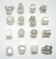 Wholesale 50pcs Mix Style Tibet Silver Charms Beads For DIY Craft Fashion Jewelry Gift C18