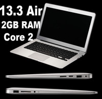 Wholesale 13 inch Air Laptop notebook computer Dual Core intel N2800 Ghz G G SSD WIFI WEBCAM