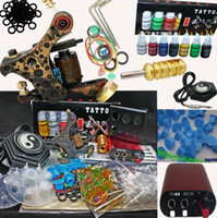 copper tattoo machine - Pure Copper Tattoo Machine Gun Tattoo Kit Hand Size MIN Power Supply Inks Accessory