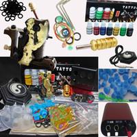 1 Gun copper tattoo machine - Copper bar Tattoo Machine Gun Tattoo Kit MIN Power Supply System Inks CD Accessory