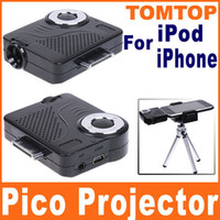 Wholesale Mini Portable Multimedia Pocket Cinema Pico Projector for iPod amp iPhone gs etc with Tripod V323