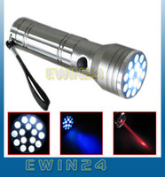 . 1300lm LED Flashlight 15 LED+UV+LASER Ultra Violet Lamp Torch Flashlight Light Good Quality Low Price 100pcs