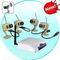 Wholesale 4 Channel DVR Receiver Security Surveillance CCTV System x Wireless Camera TVL Audio RC420