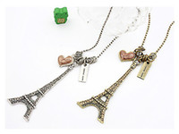 Wholesale Necklace New Sexy Retro The Eiffel Tower Necklace Sweater Chain Jewelry China Jewelry