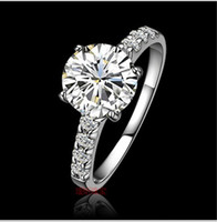Wholesale 2012 K Bridal Wedding Rings Ms White Gold Ring Swiss Diamond Ring Christmas Gifts KA81 Women