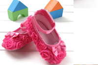 Wholesale Hot Sale Pink Mary toddler baby girl Flower shoes First Walker size