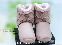 Wholesale Double love in the brief paragraph floor fluffy snow boots small